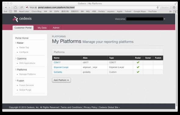 cedexis-openmix-platforms